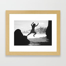 OUT AND UP Framed Art Print