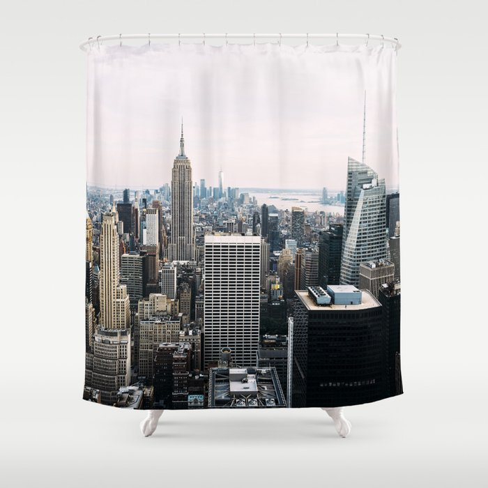 New York Skyline From Top Of The Rock Shower Curtain