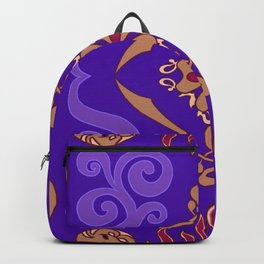 Flying Carpet Aladdin Purple Magic Carpet Backpack