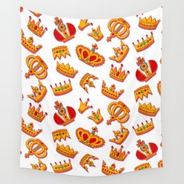 Crowns pattern Wall Tapestry