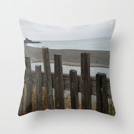 Gualala Beach Throw Pillow
