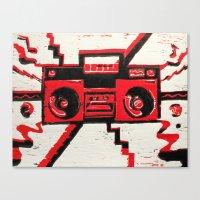 radio Canvas Prints featuring RADIO  by Cyn Art