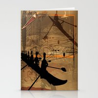 rowing Stationery Cards featuring Rowing by Robin Curtiss