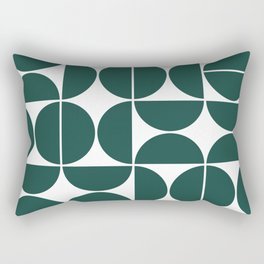 Mid Century Modern Geometric 04 Dark Green Rectangular Pillow