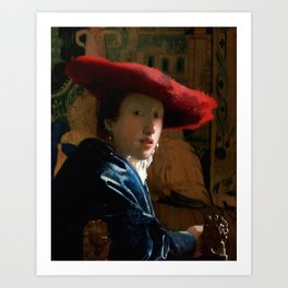 "Johannes Vermeer ""Girl with a Red Hat"" Art Print"