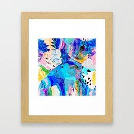 Leopard in the ocean Framed Art Print