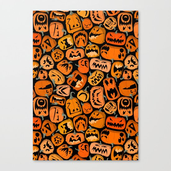 Pumpkin Brawl. Canvas Print