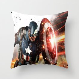 Man Of Captain In America Throw Pillow
