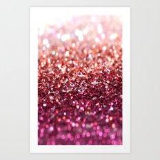 sunset glitter Art Print