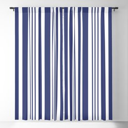 Sailor Blue Stripes 41 Blackout Curtain