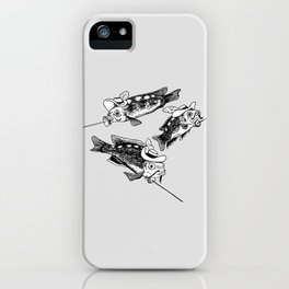 Three fish Musketeers iPhone Case