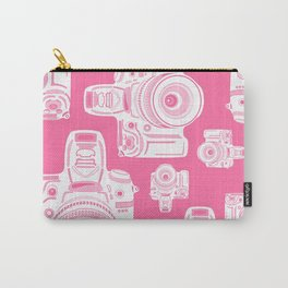 Cute Pink Camera Pattern Carry-All Pouch
