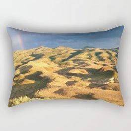 An intense rainbow in the painted hills Rectangular Pillow