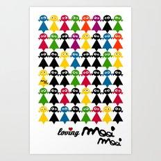 mooimooi girls Art Print