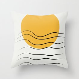 Boho sunrise minimalist Throw Pillow