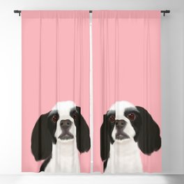 Best Pet Friend Black + White Cocker Spaniel Dog Blackout Curtain