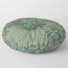 William Morris Art Nouveau Forget Me Not Floral Floor Pillow