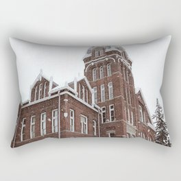 White Christmas in the Burg Rectangular Pillow
