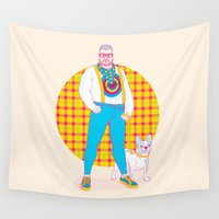 sneakers Wall Tapestries featuring Henry the Hip by John Tibbott