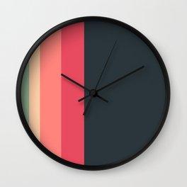 Peach Sunset Wall Clock