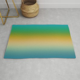 Peacock Colored Ombre Stripes Rug