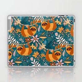 Happy Boho Sloth Floral Laptop & iPad Skin