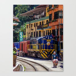 Peru Rail Train - Aguas Calientes Canvas Print