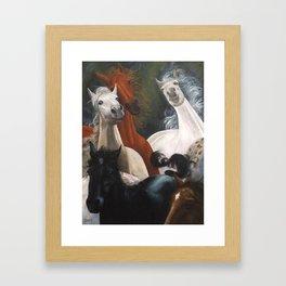 Four Horses Framed Art Print