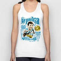 argentina Tank Tops featuring Pulga Argentina by Gonza Rodriguez