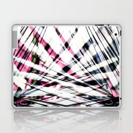 Abstract Tropical Black and Pink Jungle Leaves Laptop & iPad Skin