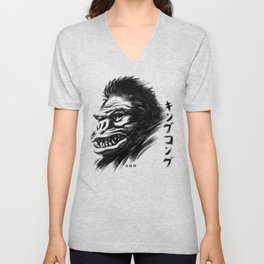 Waterbrushed Ape Unisex V-Neck
