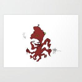 Fancy Monsters are Fancy! Art Print