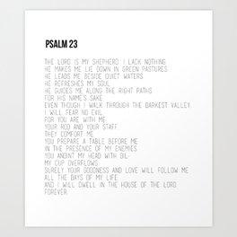 Psalm 23 #minimalist Art Print