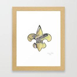 Fleur De Lis Bourbon Street Framed Art Print