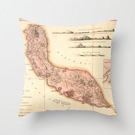 Map of Curaçao (1810) Throw Pillow