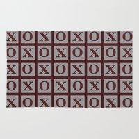 xoxo Area & Throw Rugs featuring XOXO by LLL Creations
