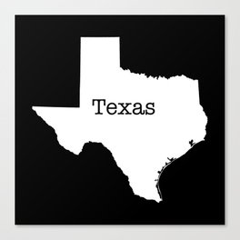 Texas State outline  Canvas Print