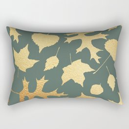 Autumn Elements Pattern (Gold&Sage) Rectangular Pillow
