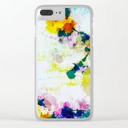 Abstract Paint Splatter Art Clear iPhone Case