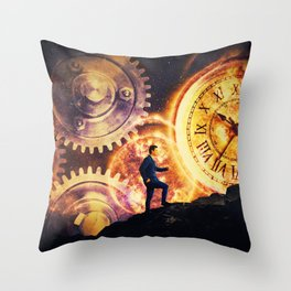 the matter of time Throw Pillow