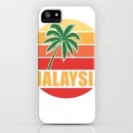 Retro Malaysia iPhone Case