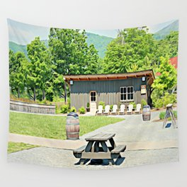 Little Shanty In The Hills Wall Tapestry