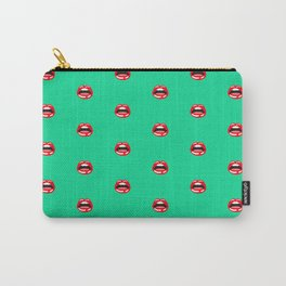 SEXY LIPS ((emerald)) Carry-All Pouch