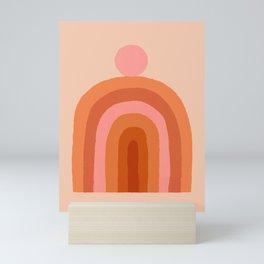 Abstraction_SUN_Rainbow_Minimalism_009 Mini Art Print