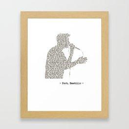 Bastille Poet Lyrics Framed Art Print