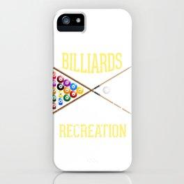Pocket Billiards for Healthful Recreation Pool Cue Pool Balls iPhone Case
