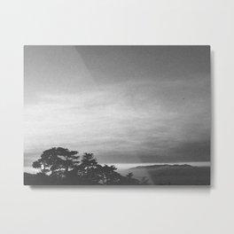 LANDS END II (B+W) Metal Print