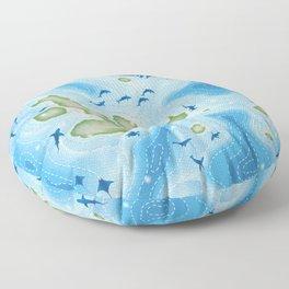 Enchanted Islands Floor Pillow