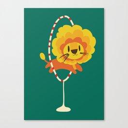 Lion hopped through a loop Canvas Print