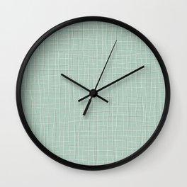 Grey Threads on Mint Wall Clock